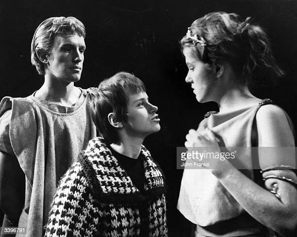 A dress rehearsal for the English Stage Company's production of 'A Midsummer Night's Dream' at the Royal Court Theatre in London From left to right...