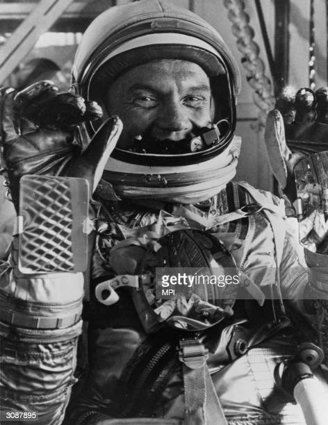 American astronaut John Glenn Jr during the MercuryAtlas 6 prelaunch activities at Cape Canaveral Florida Glenn was later elected as a Democratic...