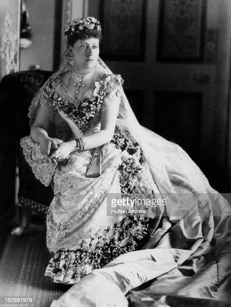 Princess Beatrice the youngest child of Queen Victoria on the day of her wedding to Princess Henry of Battenberg