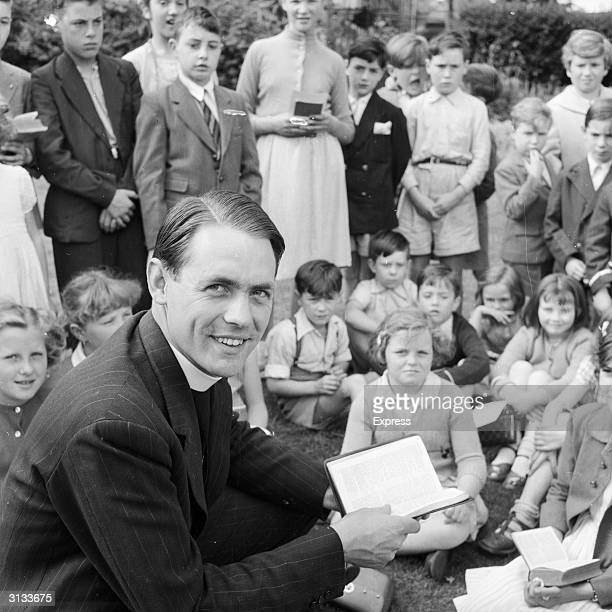 The Reverend David Sheppard curate of St Mary's Islington who is to play for England in the 4th test match In 1975 he became the Bishop of Liverpool...
