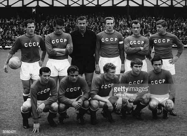 The Soviet Union football team before the start of their World Cup quarter final match with Hungary Sunderland The Soviet Union went on to qualify...