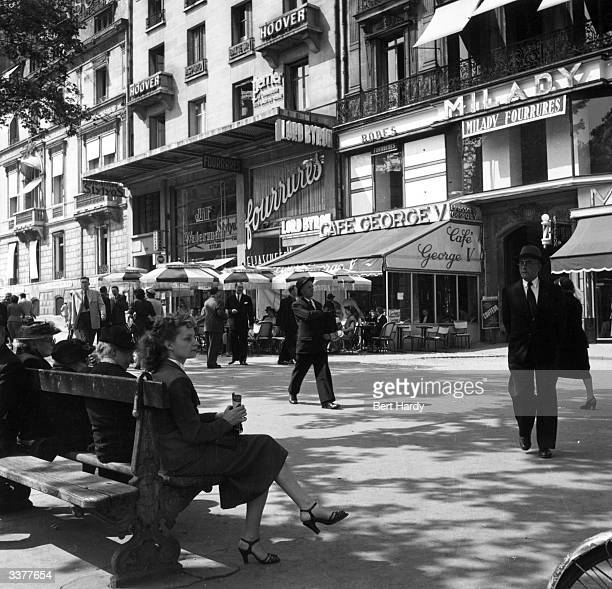 An ordinary Sunday morning in the Champs Elysees in Paris Original Publication Picture Post 5343 Sunday Morning In The Champs Elysees pub 1951