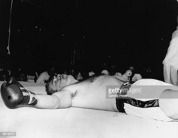 World heavyweight boxing champion Ingemar Johansson knocked out in the fifth round by 25 year old American Floyd Patterson in the title fight held in...