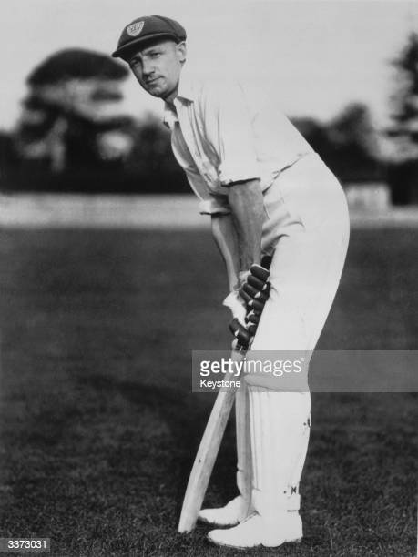 The most prolific runmaker ever Sir Don Bradman captain of the Australian test team ready to bat Sir Donald Bradman was the first cricketer to be...