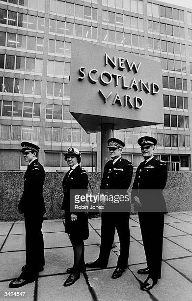 'Specials' in the Police force wearing their new uniforms outside Scotland Yard, London.
