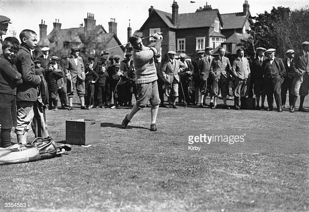 American golfer Bobby Jones winner of the golf grand slam in 1930 and founder of the Masters golf tournament