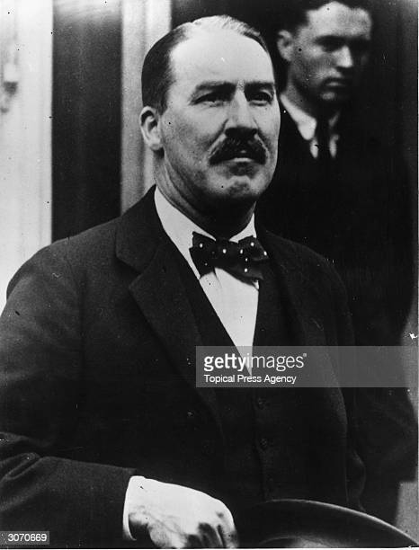 British archaeologist Howard Carter leaves the White House in Washington after a meeting with President Coolidge