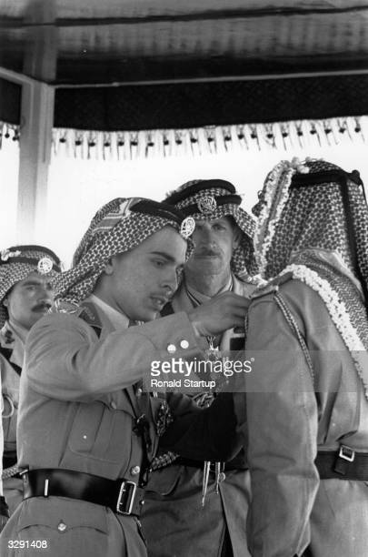 King Hussein I of the Hashemite Kingdom of Jordan on the occasion of his Coronation held on his 18th birthday in Amman Original Publication Picture...