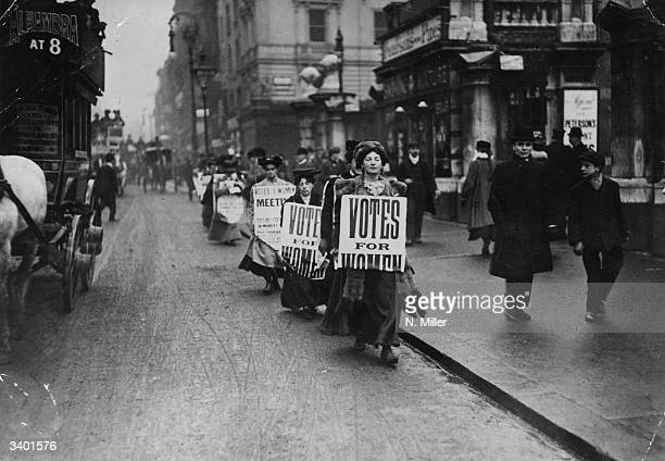 The Women's Freedom League demonstrate against 'ManMade Laws' UK
