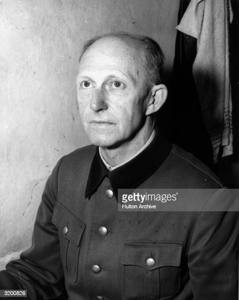 Portrait of Nazi war criminal Alfred Jodl in his cell before his trial for war crimes Nuremberg Germany