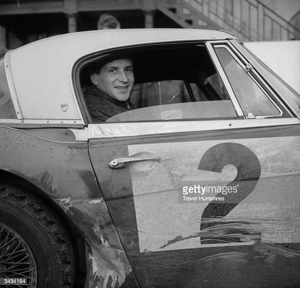 Finnish rally driver Timo Makinen leaving Perth after a Royal Automobile Club race