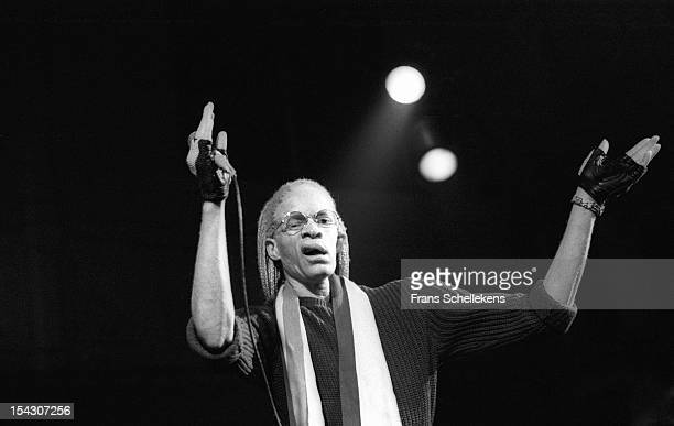 23rd NOVEMBER: Jamaican reggae singer Yellowman performs live on stage at the Paradiso in Amsterdam, Netherlands on 23rd November 1986.