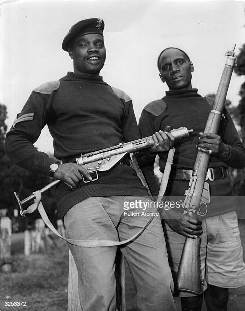 The two soldiers who caught the last Mau Mau leader Kimathu Corporal Wanjoni and Noirango