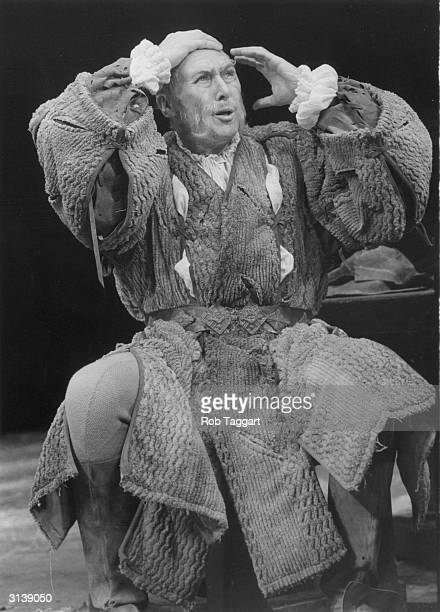 In rehearsal at the Old Vic actor Anthony Quayle as King Lear in Shakespeare's play of the same name