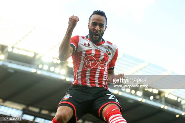 23rd October 2016 - Premier League - Manchester City v Southampton - Nathan Redmond of Southampton celebrates after scoring their 1st goal - .