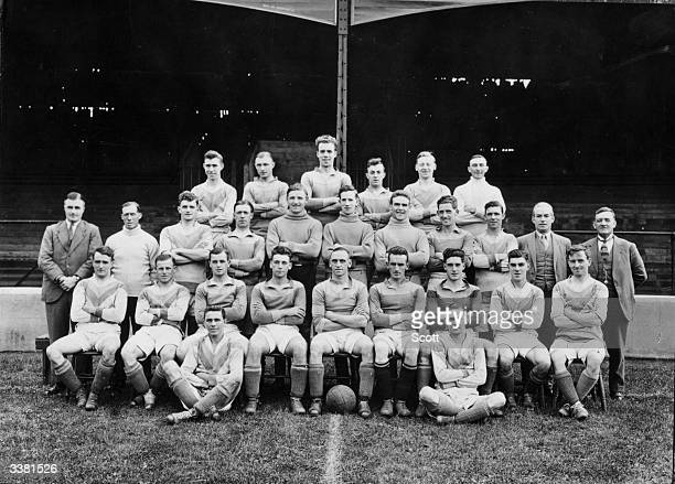 Bradford City AFC From left to right from the back row T Abrahams S T McMillan S Gallacher H Smith T C Gascoigne A Tucker G A Maley A Cawdry J Fowler...