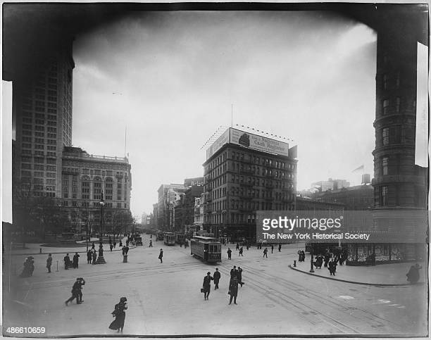 23rd Street at Broadway looking east New York New York 1895 Madison Square Park Metropolitan Life and the Flatiron Building partially visible