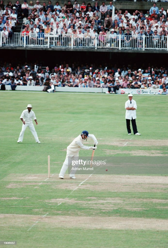 The England Captain Mike Brearley in action during the ICC Cricket World Cup Final against the West Indies at Lord's Cricket Ground, London, England on the 23rd of June 1979. West Indies won the match becoming World Champions.