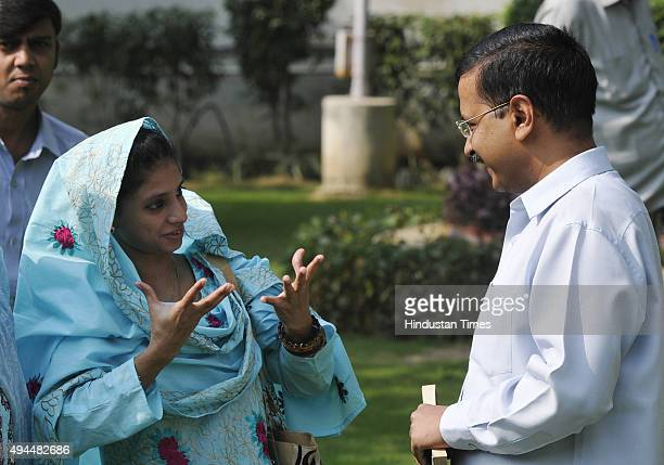23yearold deafmute Indian girl Geeta who had crossed over to Pakistan over 15 years ago with Delhi Chief Minister Arvind Kejriwal during a meeting at...