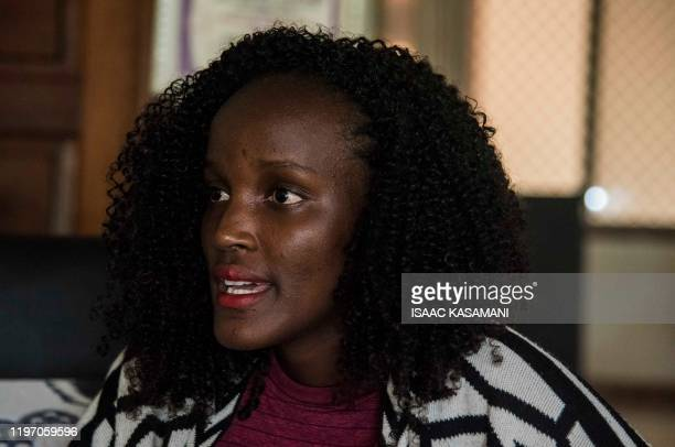 23yearold Ugandan climate advocate Vanessa Nakate is photographed at her home in Kampala during an interview with AFP on January 28 2020 Vanessa...