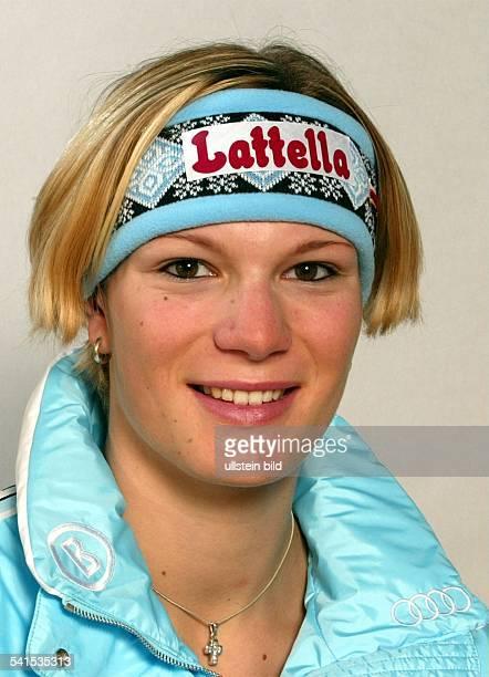 Sportlerin Ski Alpin DPorträt