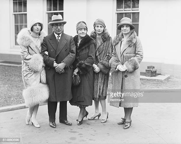Photo shows left to right Miss Edith Mayer, Mr. Louis B. Meyer, Mrs. Louis Mayer, Miss Irene Mayer, Mrs. Mabel Walker Willebrandt, Assistant Attorney...