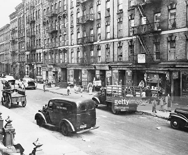 New York, NY- Slums in East Harlem, NYC.