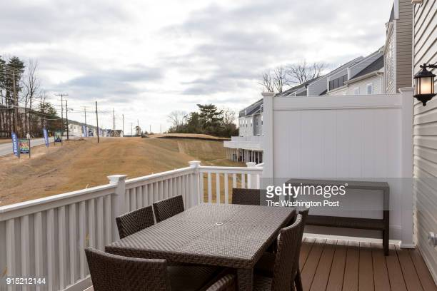 Deck off the Kitchen in the Ellicott model home at Spring Creek on January 24 2018 in Laurel Maryland
