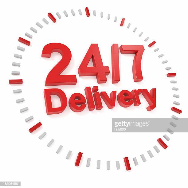 24h/7 delivery