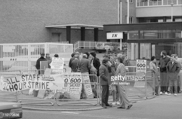 A 24hour strike at the BBC Television Centre in London 5th April 1984