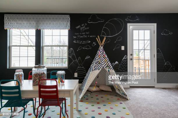Loft in the Ellicott model home at Spring Creek on January 24 2018 in Laurel Maryland