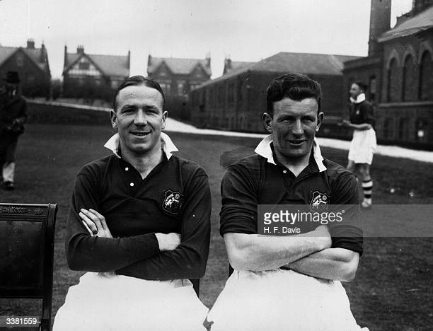 Manchester City FC soccer players Busby and Cowan