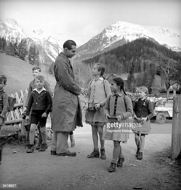 Worker with underfed children in Austria. Original Publication: Picture Post - 4538 - Unicef Sets About The Job - pub. 1948
