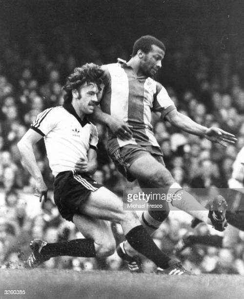 Cyril Regis of West Bromwich Albion in action