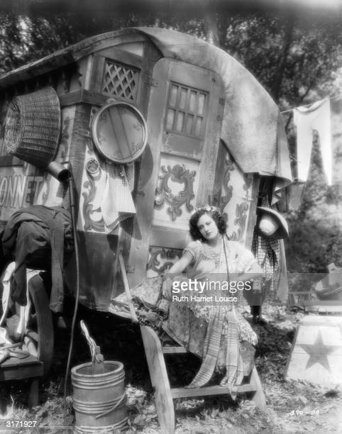 American actress Joan Crawford plays the wild gypsy Adrienne in 'Dream Of Love' directed by Fred Niblo