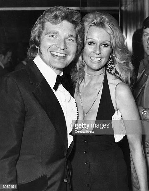 Actor Derren Nesbitt and his wife actress Anne Aubrey arrive at the London premiere of the film 'The Godfather'