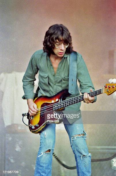 Burke Shelley from Welsh rock group Budgie performs live on stage at the Reading Festival in Reading England on 24th August 1980