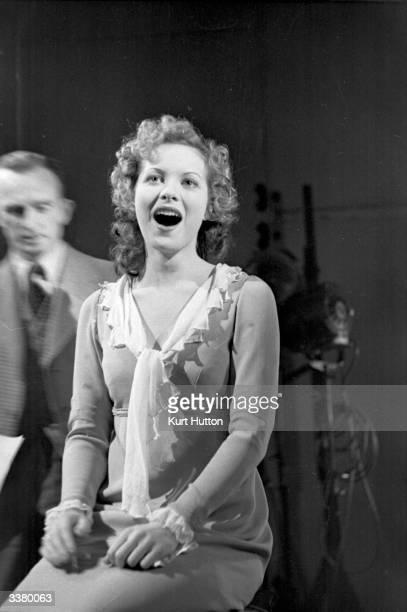 Irish actress Maureen O'Hara during rehearsals for her part in the film adaptation of 'Jamaica Inn' Original Publication Picture Post 60 Laughton...