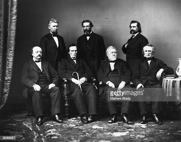 The House impeachment committee Benjamin Butler Thaddeus Stevens Thomas Williams and John A Bingham James F Wilson George Boutwell and John A Logan...