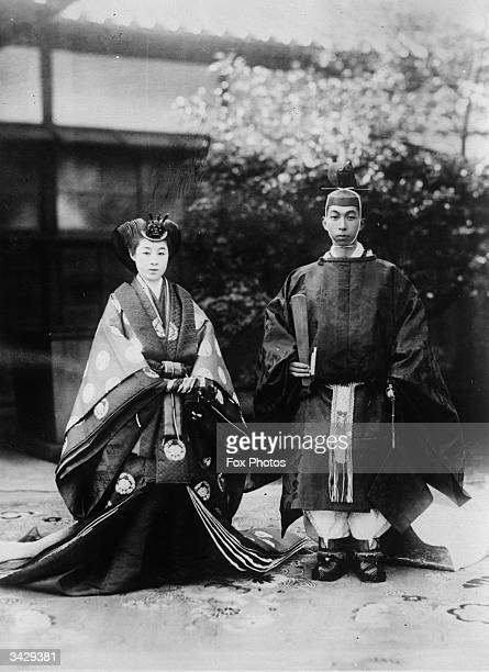Prince Takamatsu and Miss K Tokugawa in their wedding finery