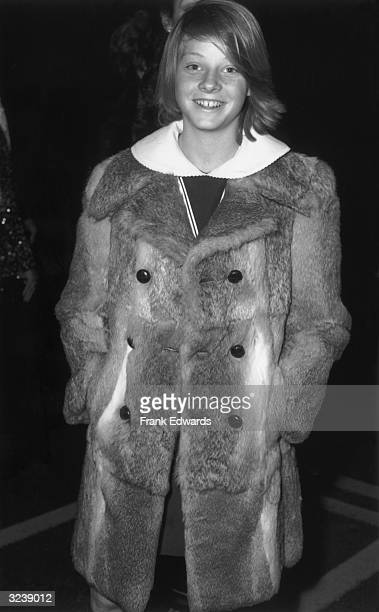 13yearold American actor Jodie Foster smiles while attending the Academy Award Nominations Los Angeles California She wears a fur jacket