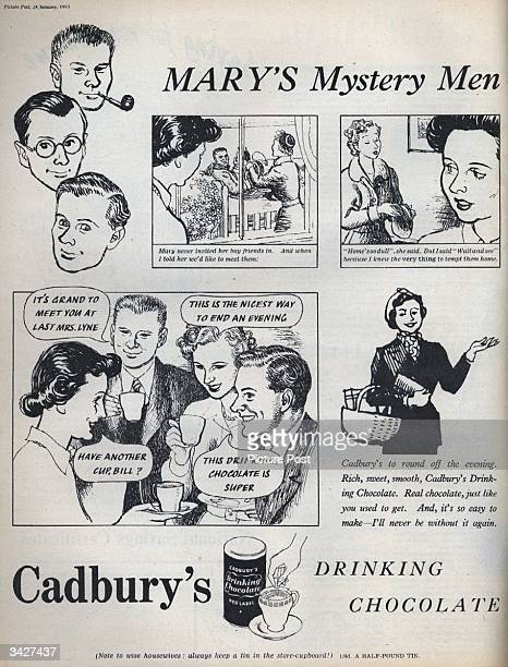 A mother finally gets to meet her daughter's boyfriends by enticing them in with an offer of Cadbury's Drinking Chocolate Original Publication...