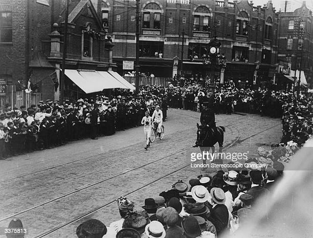 The 1908 Olympic Marathon which was held in London was won by the American John Hayes in a time of 2hr 55 min 184 sec an Olympic record