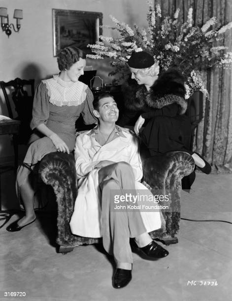 American actor Clark Gable with Mary Astor and Jean Harlow his costars in the film 'Red Dust'