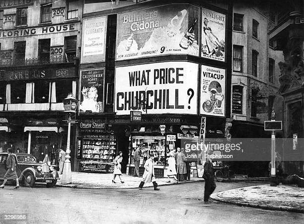 A poster in the Strand London asks 'What Price Churchill'