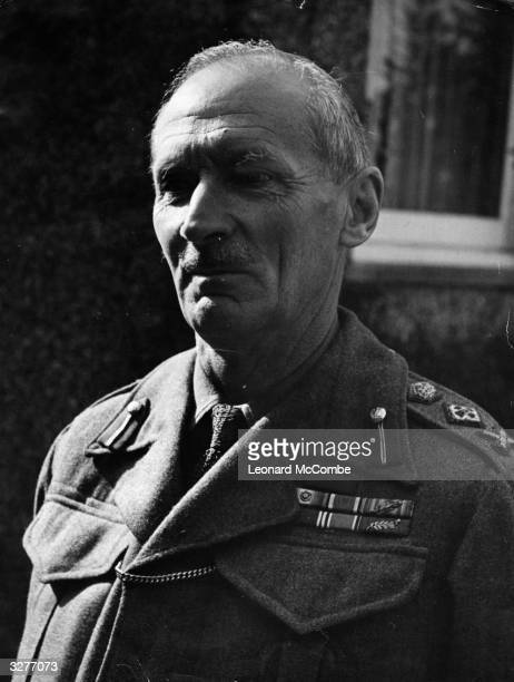 Bernard Law Montgomery , 1st Viscount Montgomery of Alamein, British General. Original Publication: Picture Post - 1472 - The Man Who Commands Our...