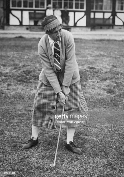 British golfer Cecil Leitch competing in the French Ladies' Golf Championship at Le Touquet