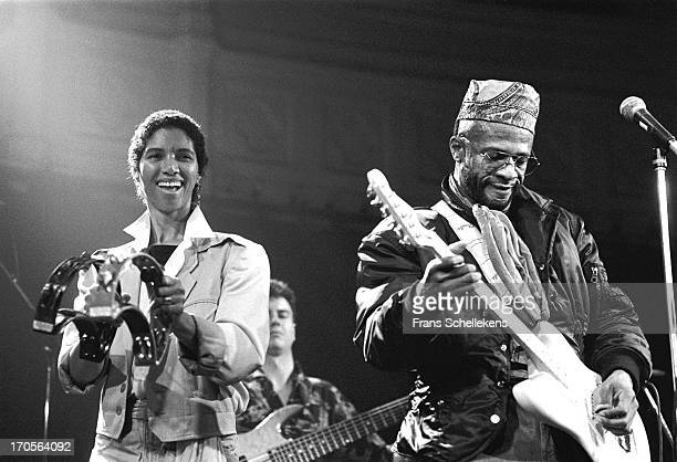 Linda Womack and Cecil Womack from Womack Womack perform live on stage at the Paradiso in Amsterdam Netherlands on 24th October 1988