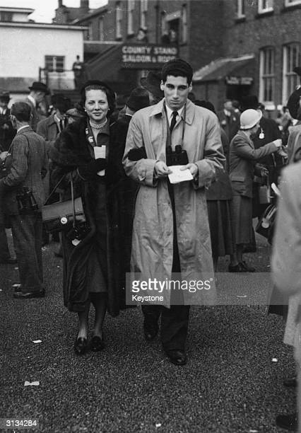 The jockey and owner the Marquis de Portago at Aintree with his wife Carroll
