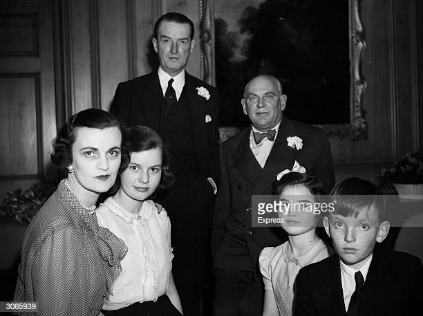 Margaret Campbell the new Duchess of Argyll with her family and the Duke of Argyll
